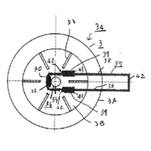 (14) 状体が線材で矩形の輪状に形成され線状体の周りにコイル状に巻回されスプリング力で排出チューブが閉塞される